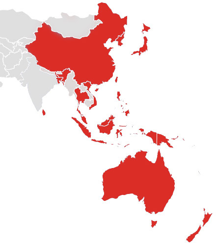 Map Of Southeast Asia Australia And New Zealand.Contact Apac Scientific